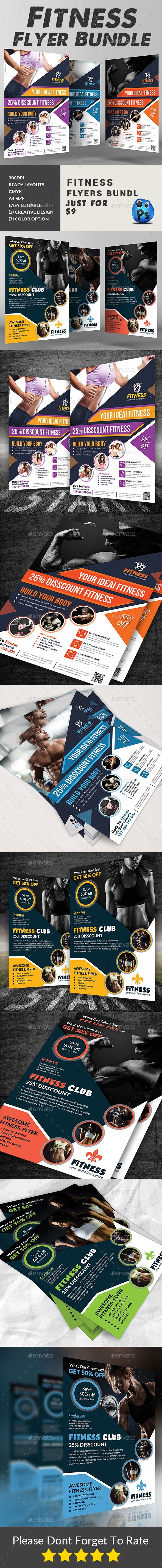 Fitness Flyers Bundle #AD #Fitness, #Sponsored, #Flyers, #Bundle