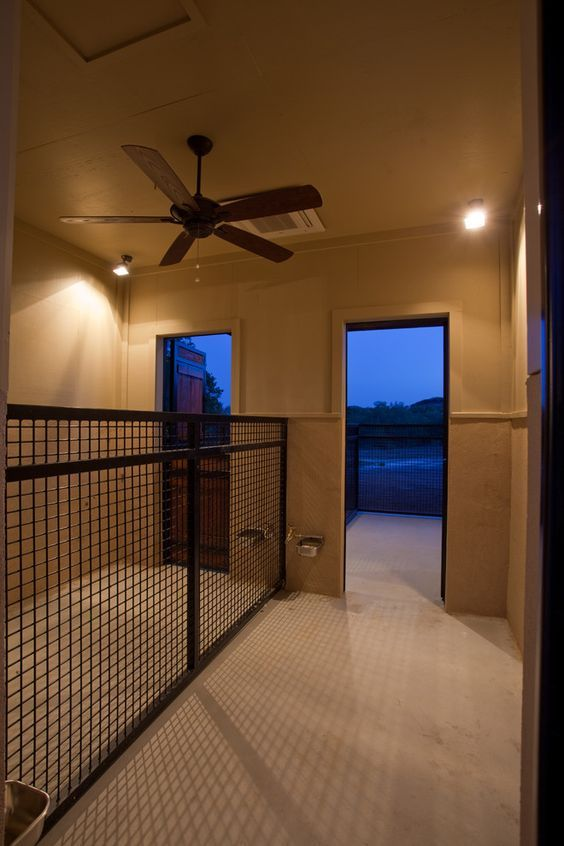 Superb indoor dog kennels in Hall Contemporary with Outdoor Dog Area ...