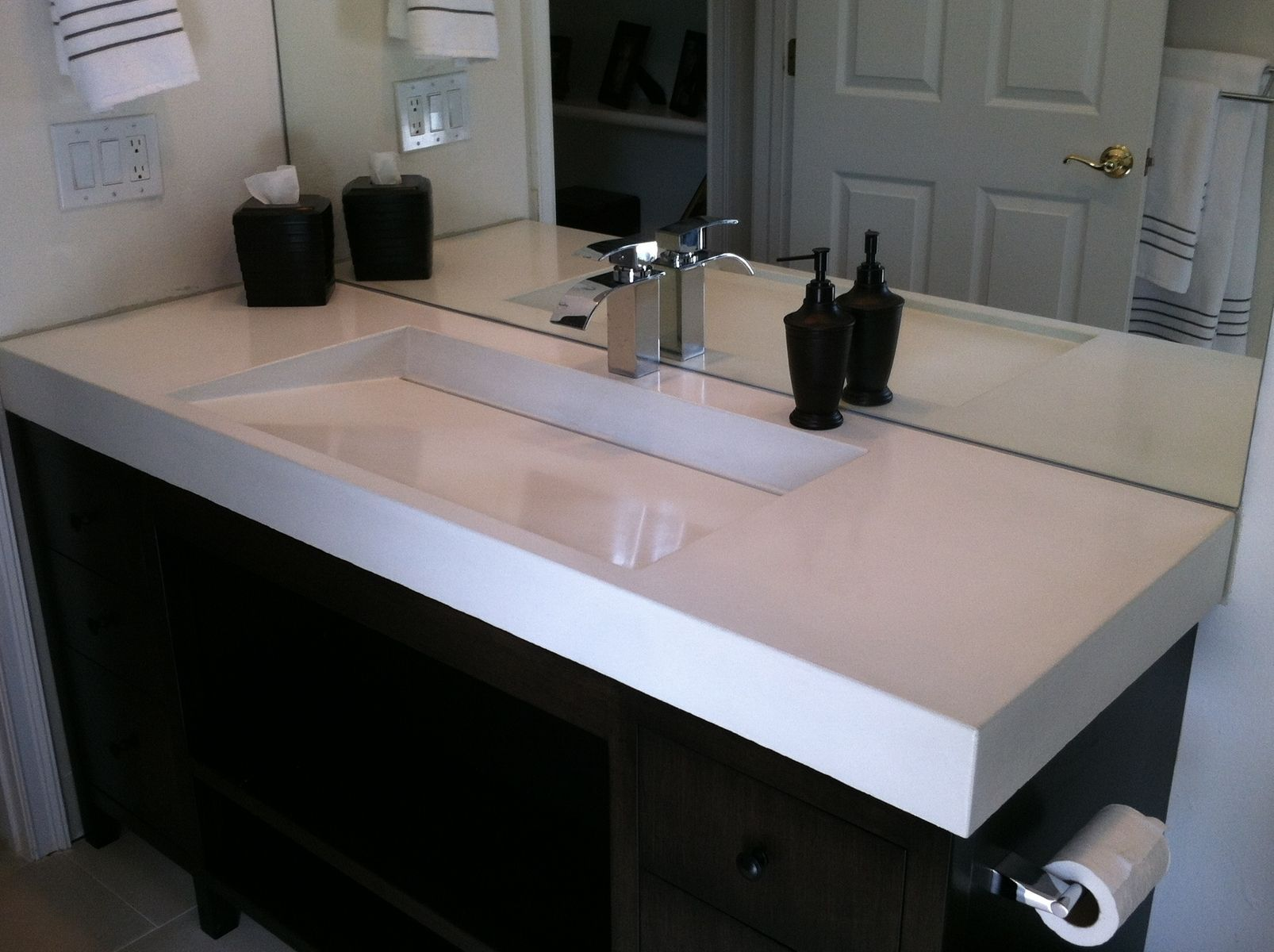 Custom Made Concrete Ramp Sink Specific Examples Bath