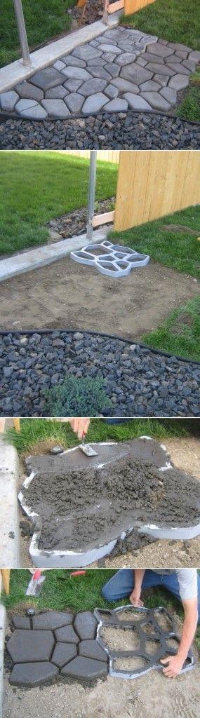 C mo hacer adoquines para el jard n jardin jardines for Adoquines para jardin precio
