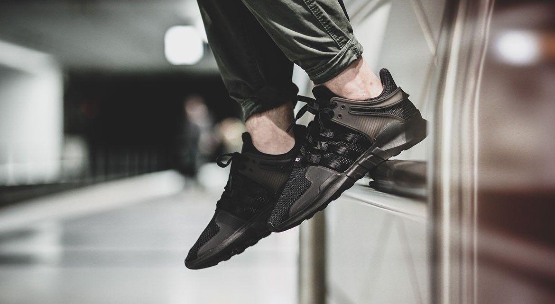 adidas originals eqt support adv trainer in black
