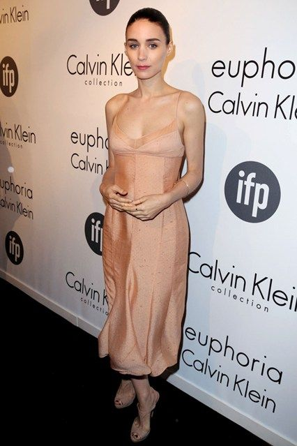 Rooney Mara was named the new face of Calvin Klein fragrance the night the fashion house hosted its Cannes party, so was naturally dressed in a blush dress by the brand.
