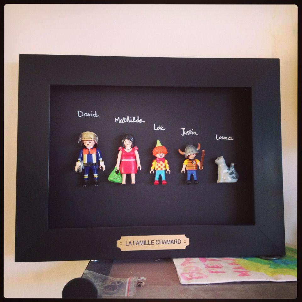 Une Photo De Famille Playmobil Aux Quatre Vents Fete Des Peres Bricolage Amusant Deco Enfant