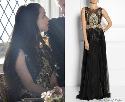In the eighteenth episode Mary wears this Notte by Marchesa ...