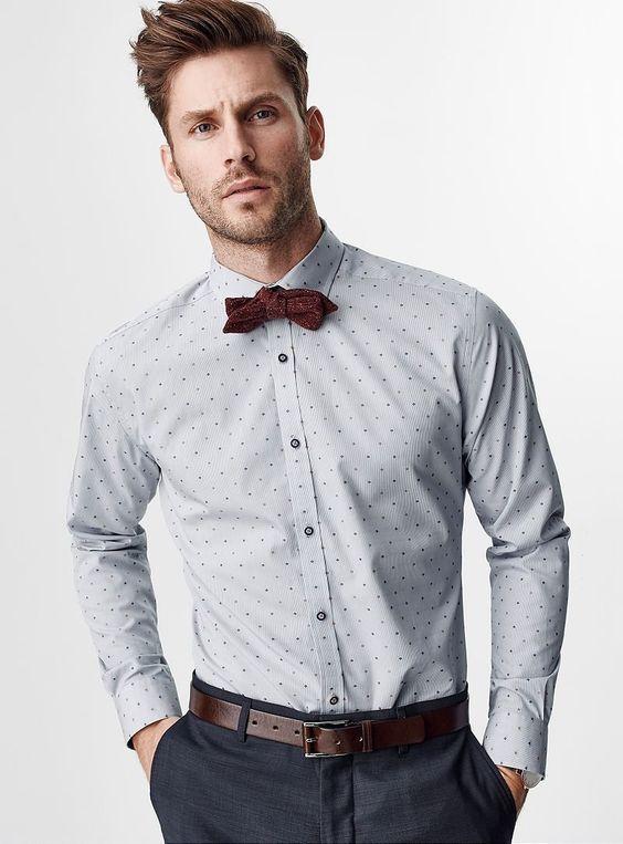 button down shirt or button up shirt gut angezogen pinterest weinrote fliege hemden. Black Bedroom Furniture Sets. Home Design Ideas