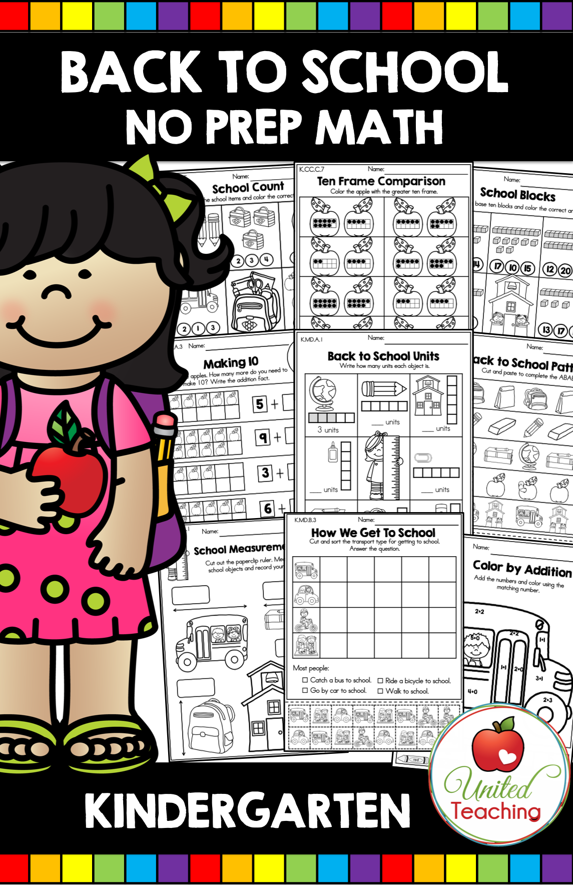Back To School Math Worksheets Kindergarten With Images