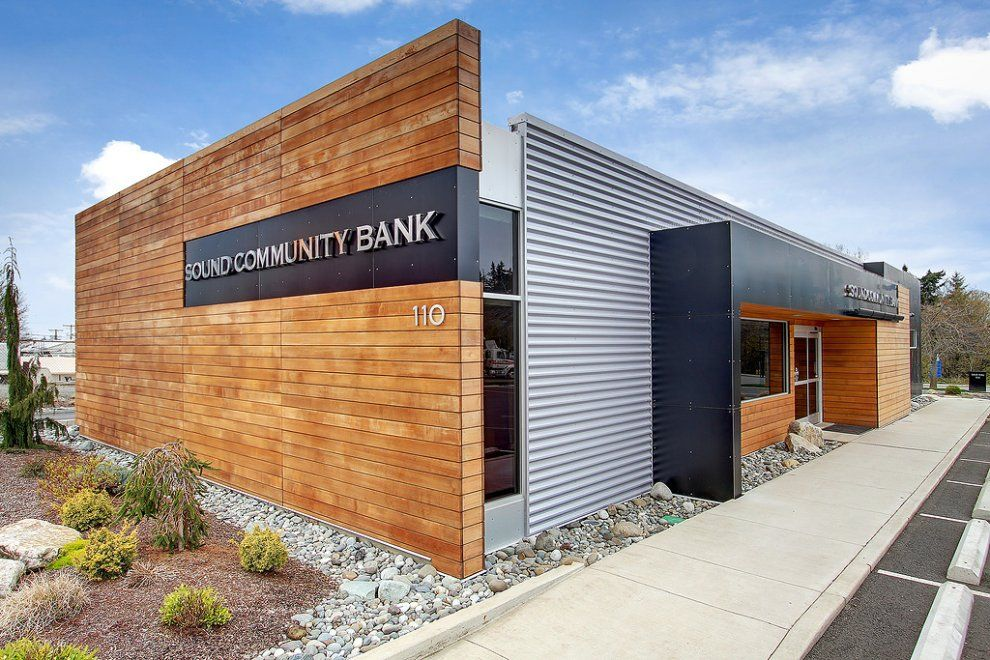 Wood Elevation Burger : Wood metal color spore architecture façades