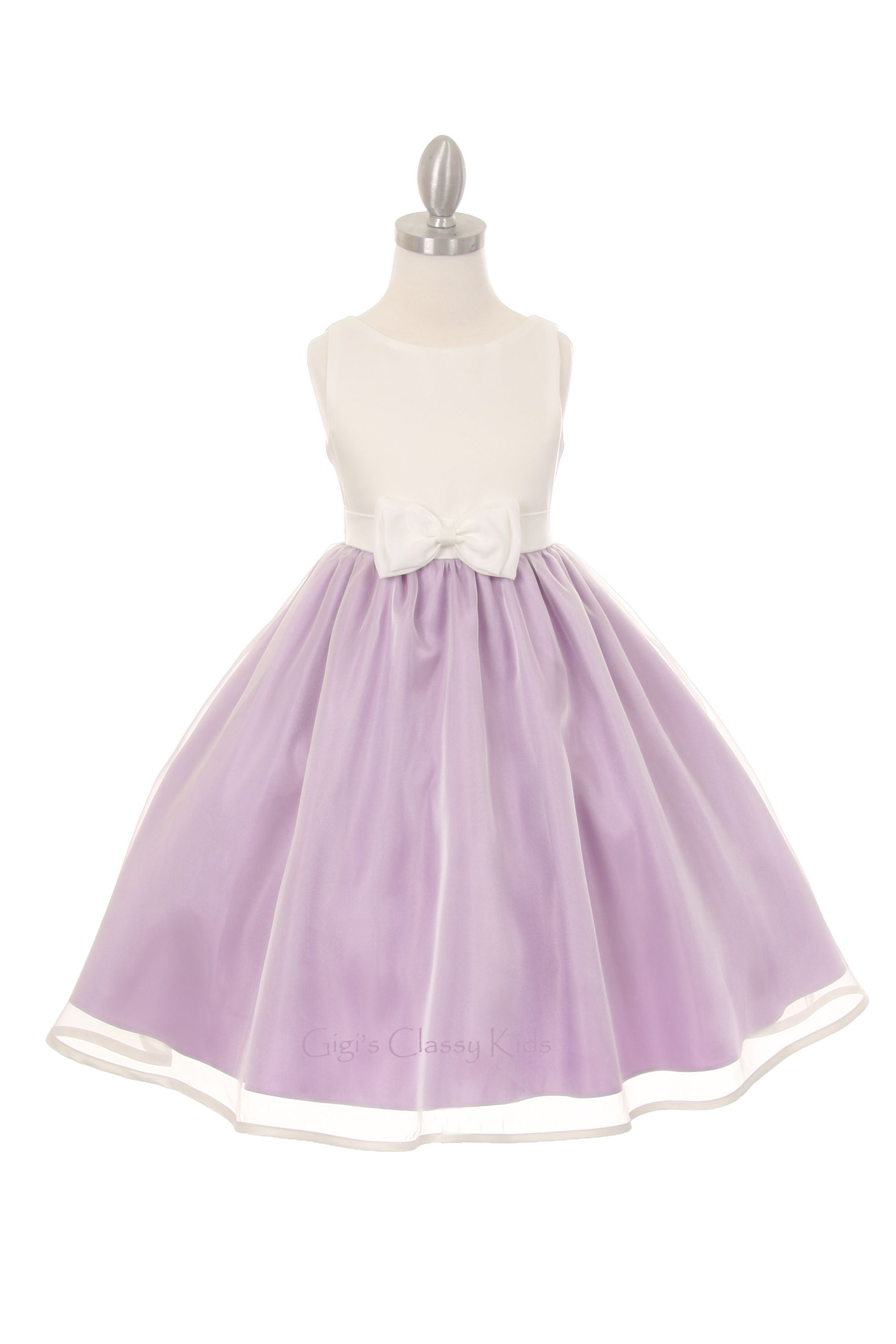 New Ivory Lilac Flower Girl Dress Available In Pink Silver