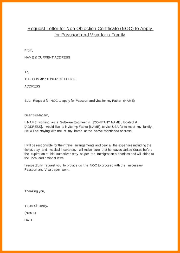 Doc Noc Certificate For Passport Objection Letter Job