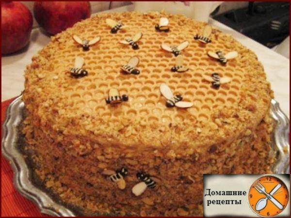 рецепт с фото торт пчёлка