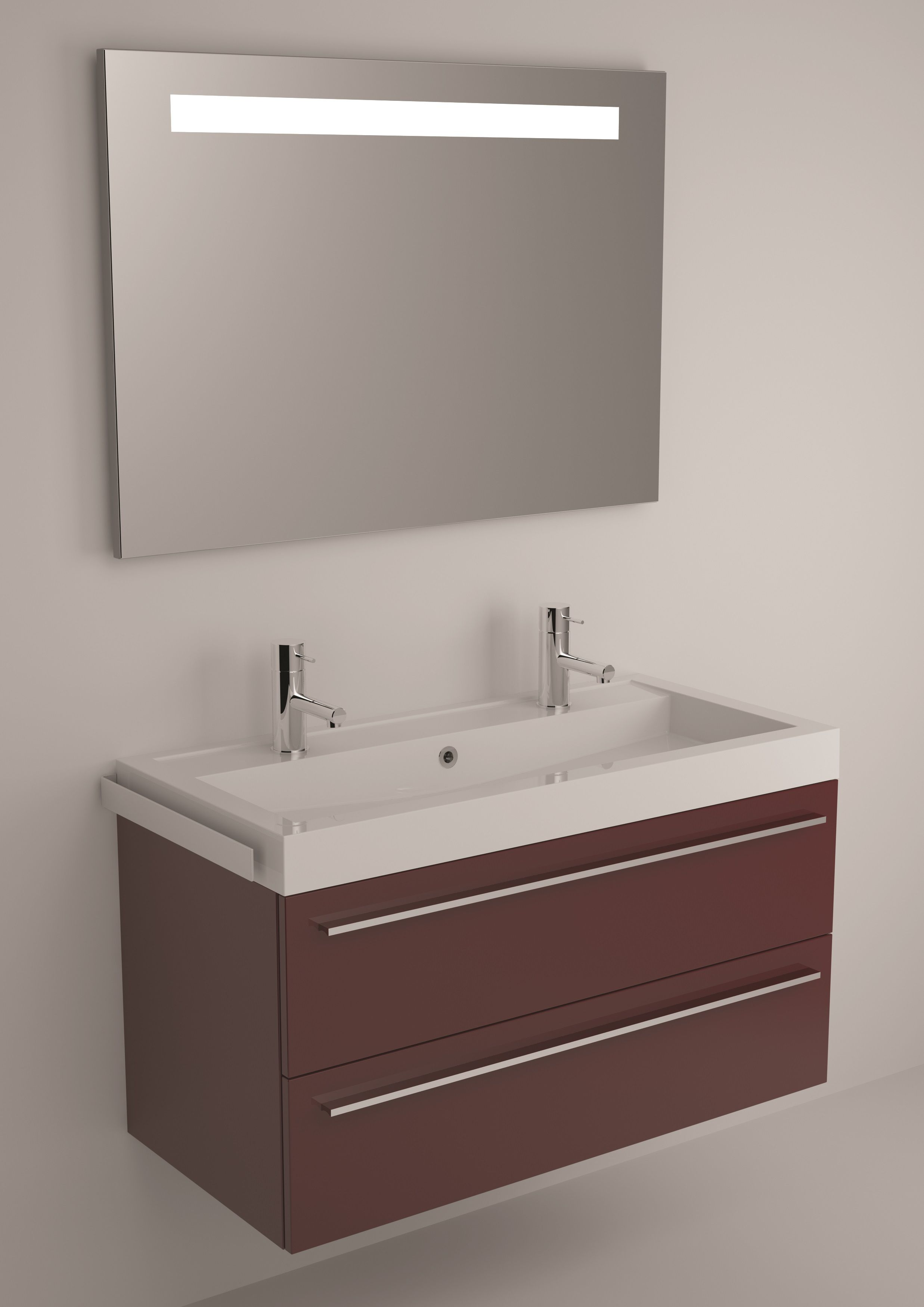 meuble 2 vasques 100 cm | Coiffure | Pinterest | Vasque, Meuble ...