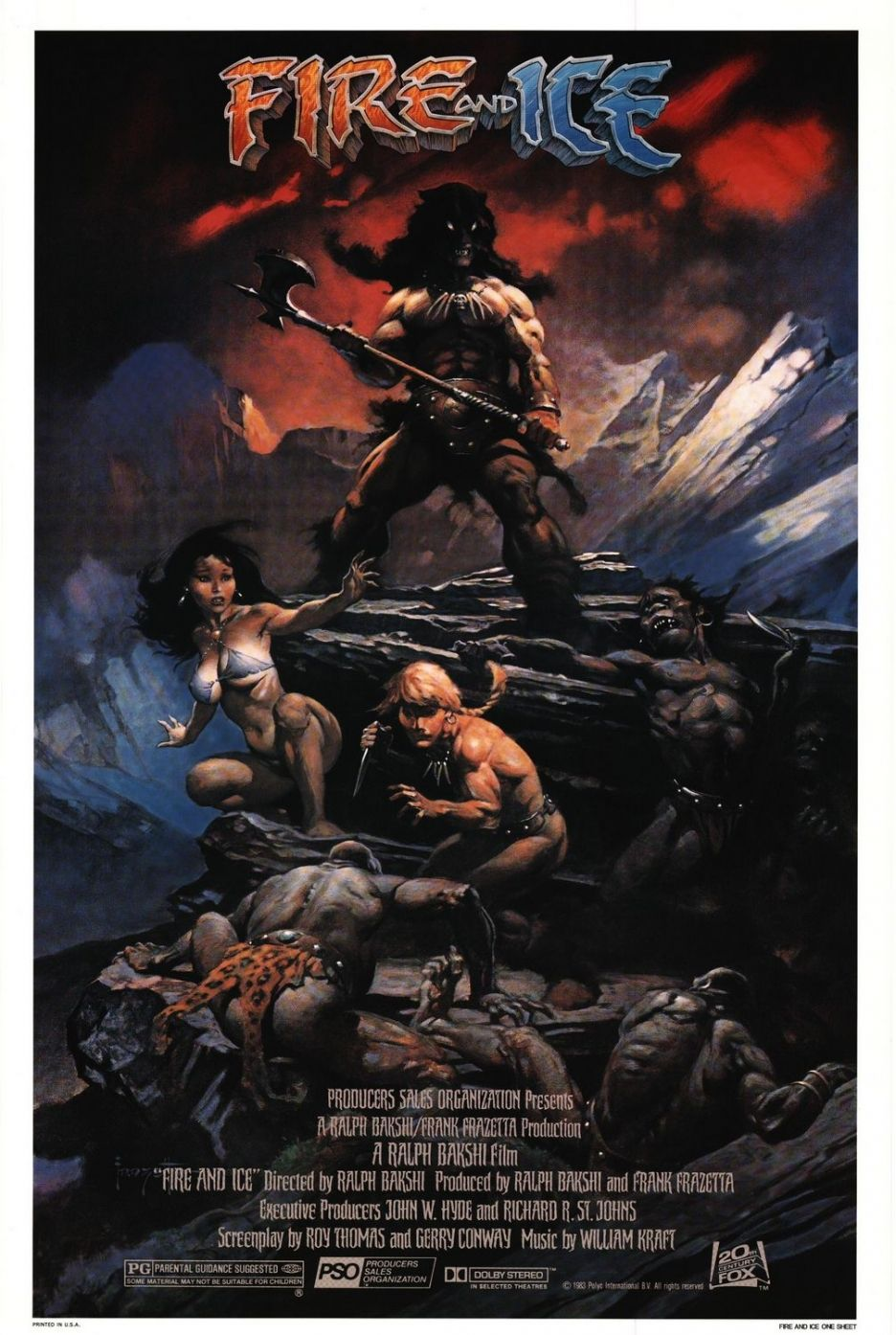 Fire And Ice Poster Fantasy Movies, Fantasy Art, Streaming Movies, Hd  Streaming,