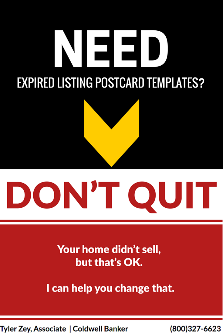 The Ultimate Expired Listing Postcard FREE TEMPLATE Pinterest - Real estate postcards templates free