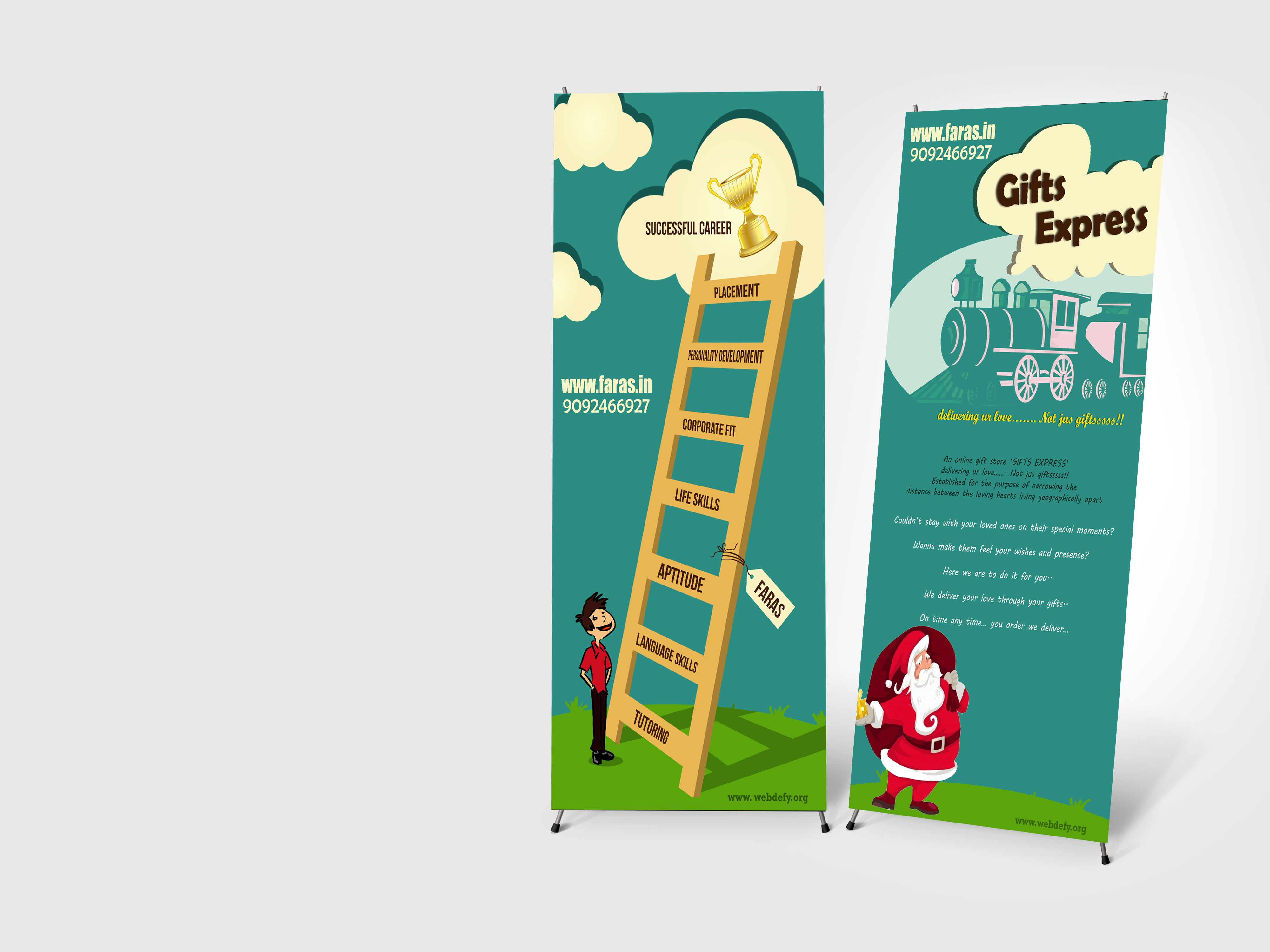 Poster design online - Standee Design For Faras An Online Gift Store Designed By Webdefy