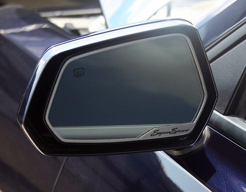 2010 2013 Camaro Side View Mirror Trim Supersport Style 2pc Brushed Stainless Steel Mirror Trim Car Craft Side Mirror Car