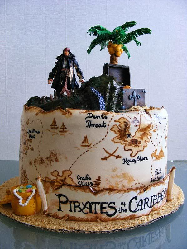 Remarkable Pirates Of The Caribbean Cake Amazing Pirate Cake Disney Funny Birthday Cards Online Aeocydamsfinfo