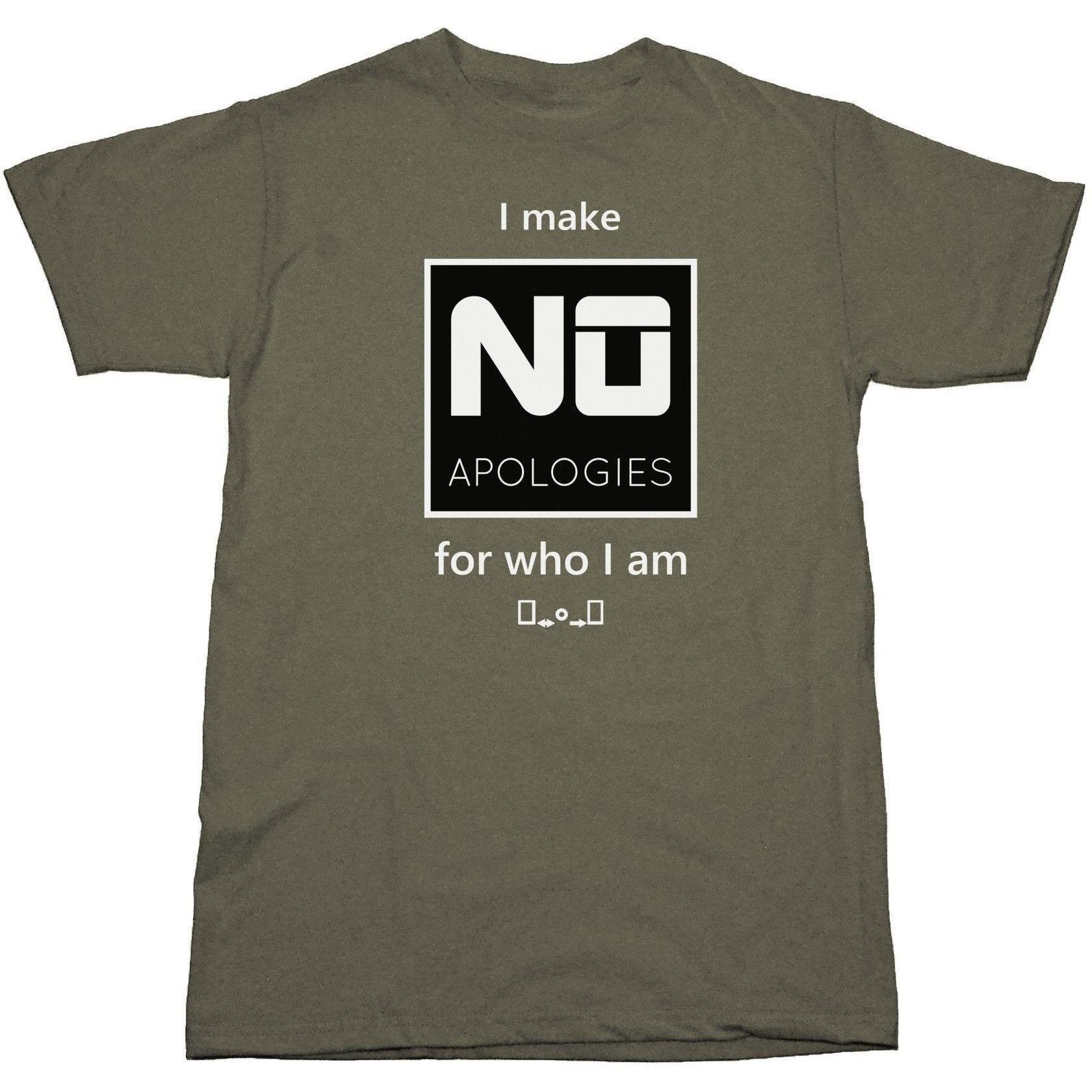 I MAKE NO APOLOGIES women's unisex t-shirt