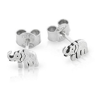 Sterling Silver Cat Earrings with Cubic Zirconia Stone iwGrSDx