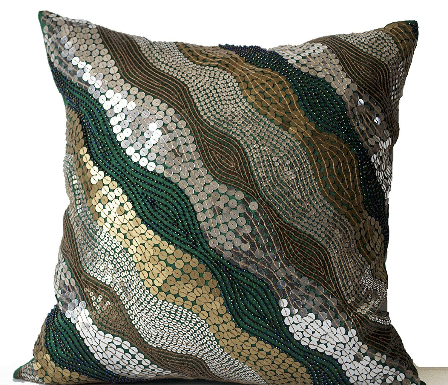 Decorative Pillow Case Emerald Green Throw Pillow Covers with