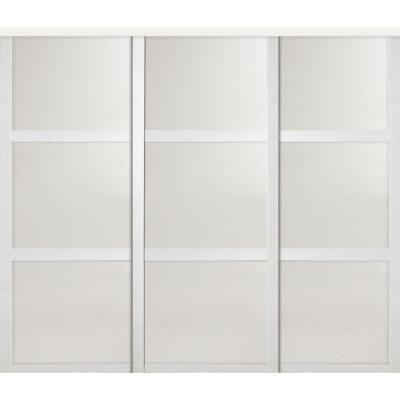 Custom Door and Mirror European Shaker Series 3-Lite Mirror White ...