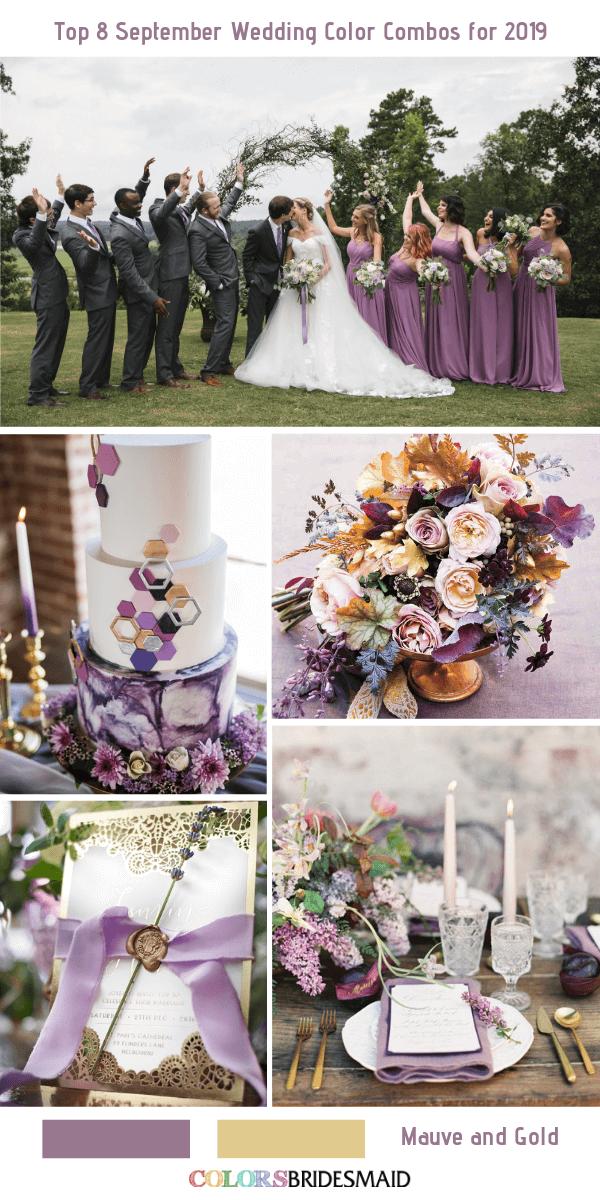 Top 8 September Wedding Color Combos For 2019 September Wedding