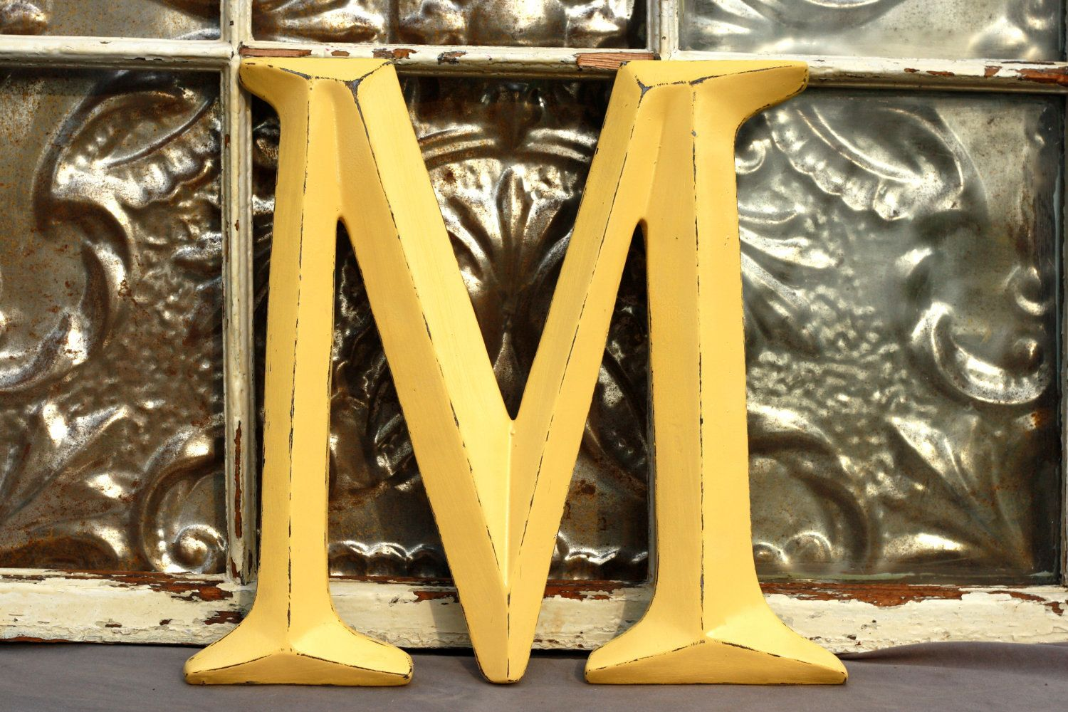 Large Letter M/ Alphabet Letter Display M/ Capital Wall Letter M ...