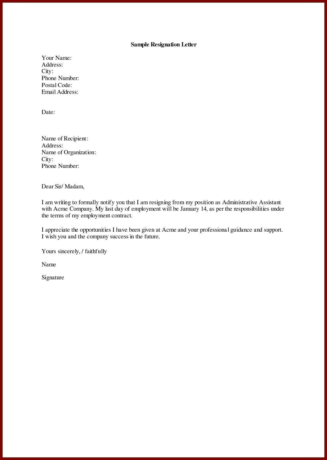 Unique Resignation Letter Job Resignation Letter Resignation