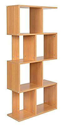 Ts Ideen Bookshelf Rack Scaffold Shelf 130x60 Cm In Oak Colour
