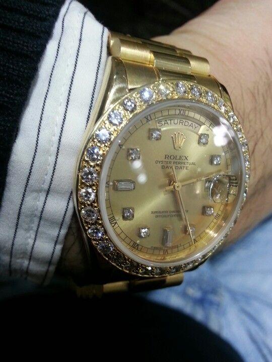 Diamonds inside my Rolex face too