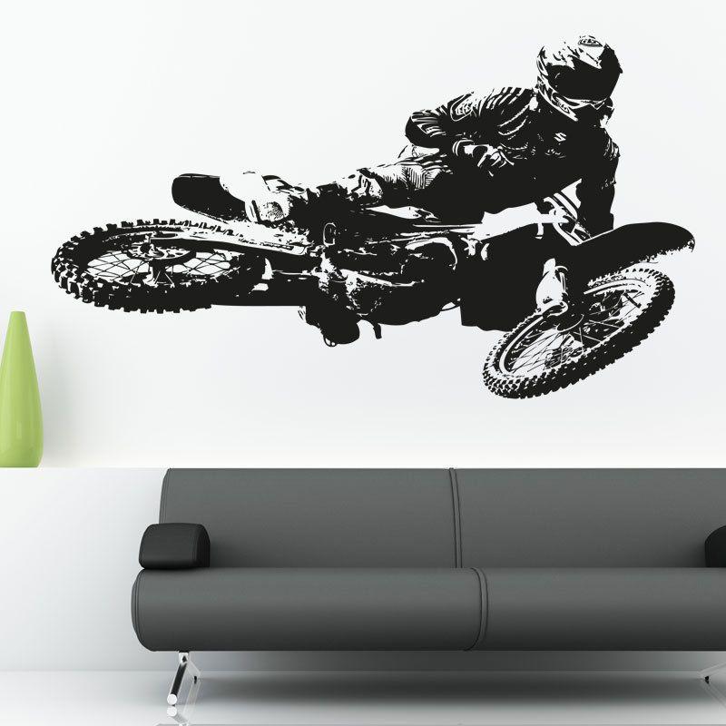 Motocross Kawasaki Motorbike Vinyl Wall Art Sticker Decal Motorbike