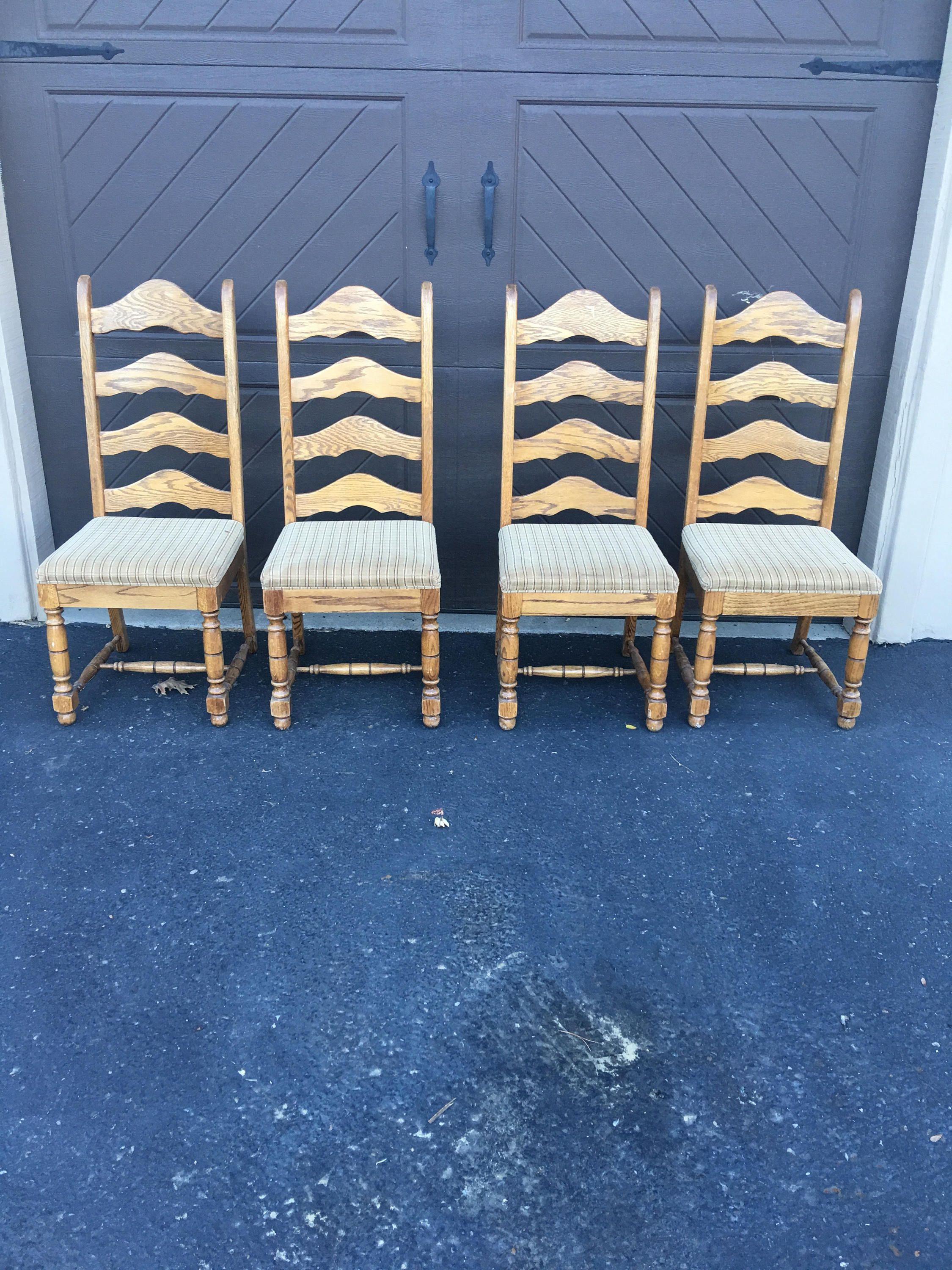 YOU CHOOSE Farmhouse Chairs set of four vintage farm chairs you ...