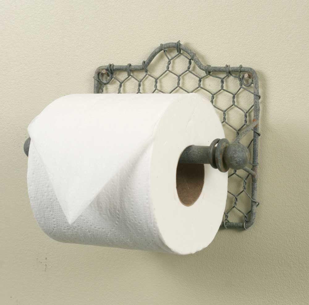 Chicken Wire Toilet Paper Holder Pack Of 2 Toilet Paper Holder Primitive Bathrooms Toilet Paper