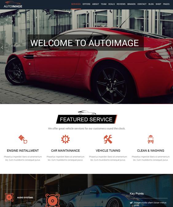 This car dealership and vehicle listing WordPress theme