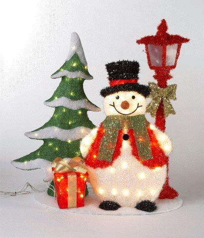 Lighted outdoor yard decorations christmas scenes and for 36 countdown to christmas snowman yard decoration
