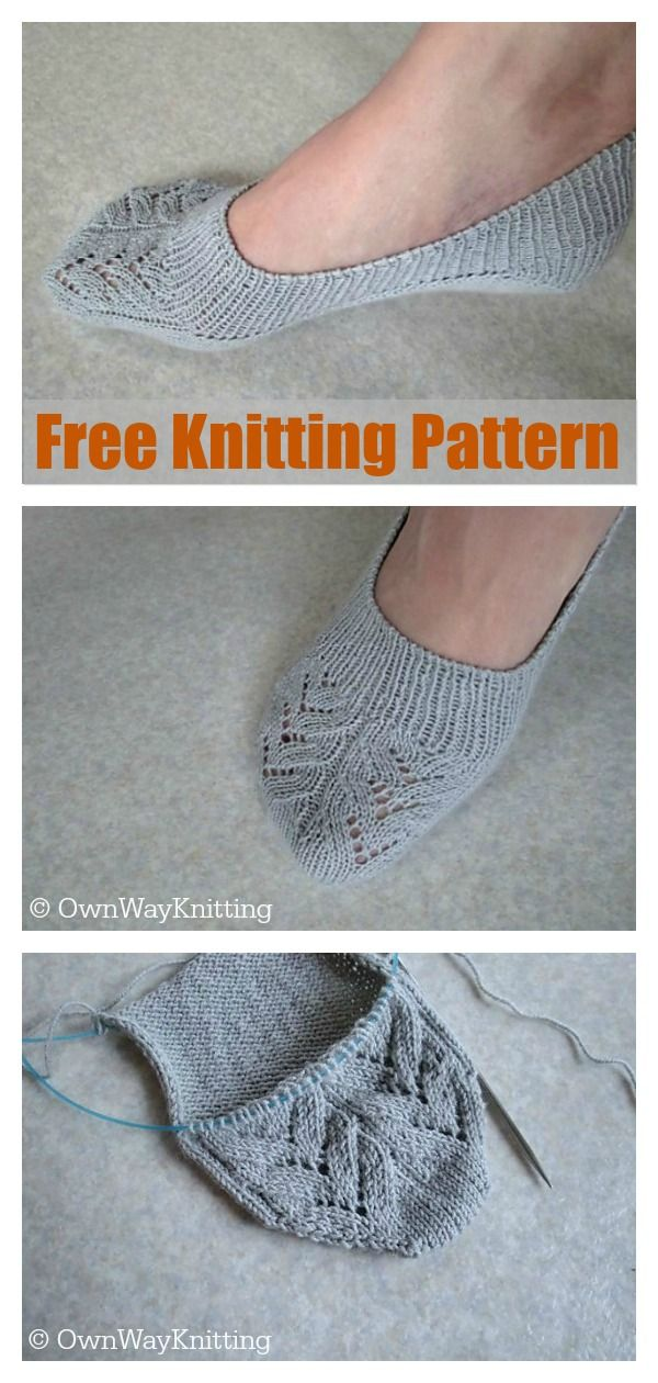 No Show Socks Free Knitting Pattern #freeknittingpatterns