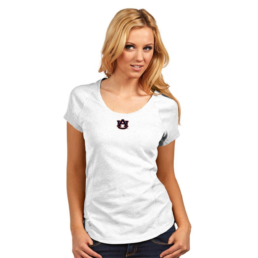 Auburn Tigers NCAA Pep Womens V Neck Tee White