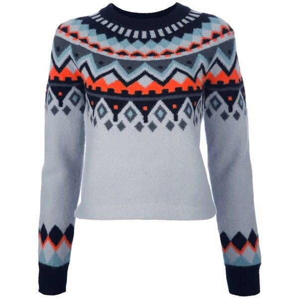 PROENZA SCHOULER Fair Isle print sweater (£494) found on Polyvore ...