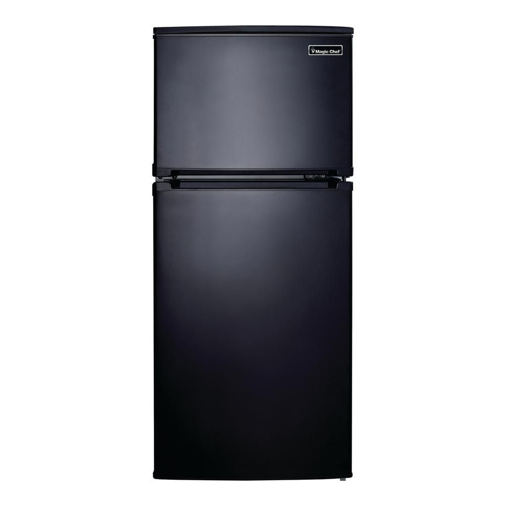 Magic Chef 4 3 Cu Ft Mini Refrigerator In Black Hvdr430be The Home Depot Magic Chef Refrigerator Glass Refrigerator