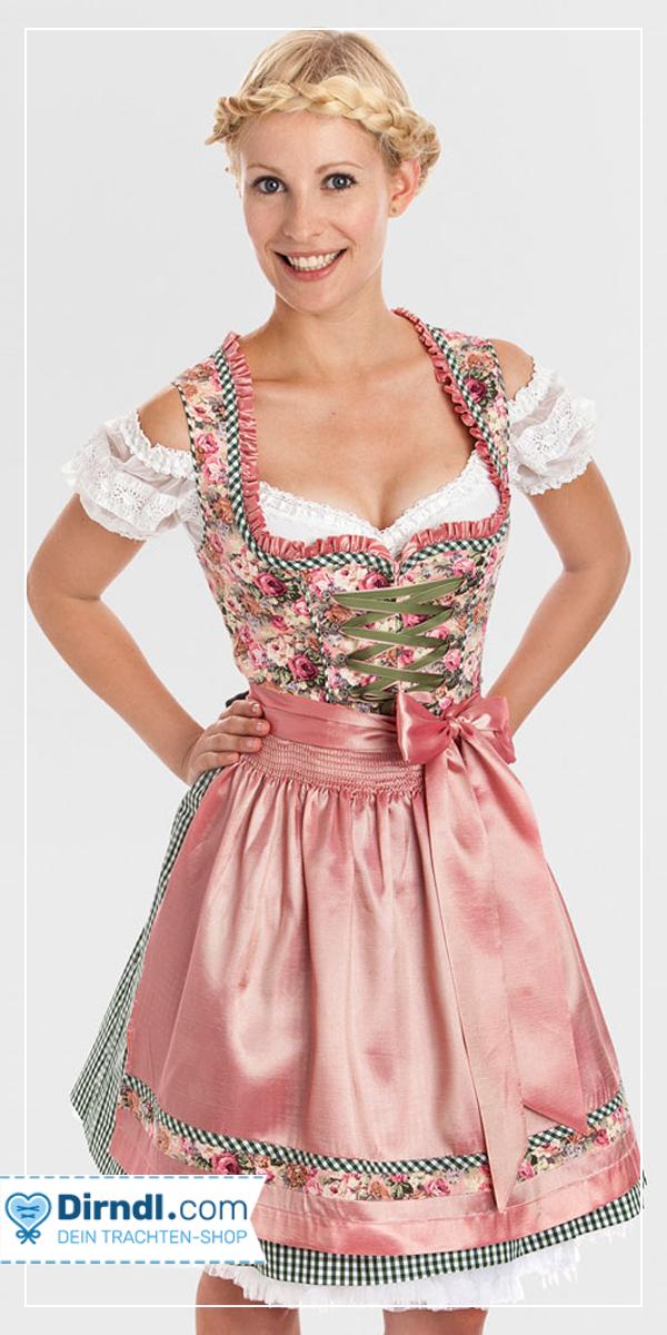 Kruger Dirndl Rosy Rose German Traditional Dress Oktoberfest Outfit Dirndl Dress