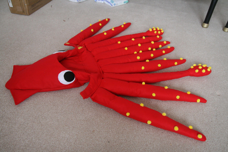 ddf584f4 Squid Costume | Christmas, Montessori, Squid Hat, Handmade, Sea Life ...