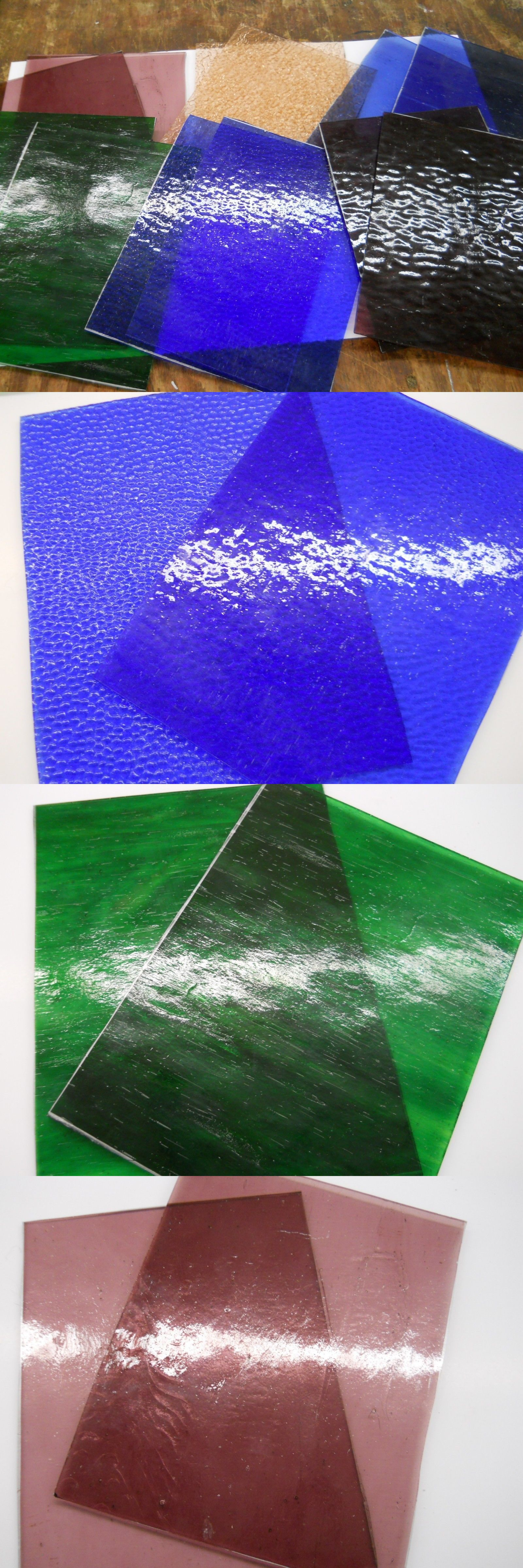 Stained Glass Supplies 4770 12 Stained Glass Sheets 6 Colors 2