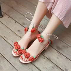 Shoespie Beach Flower Flat Sandals