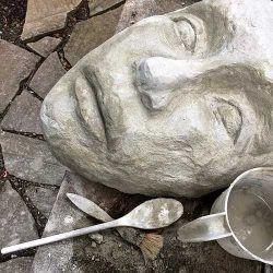 DIY Concrete Face Garden Sculpture U2013 Part #1