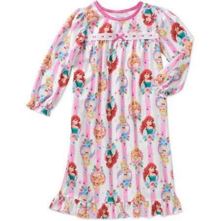 926b8437a Disney Princess Baby Toddler Girl Long Sleeve Pajama Nightgown
