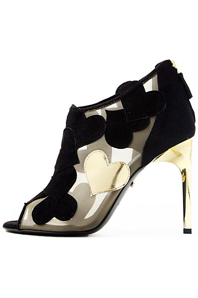 7c70e0fe6 Diane von Furstenberg - Shoes - 2014 Fall-Winter black hearts with gold  heart and heel