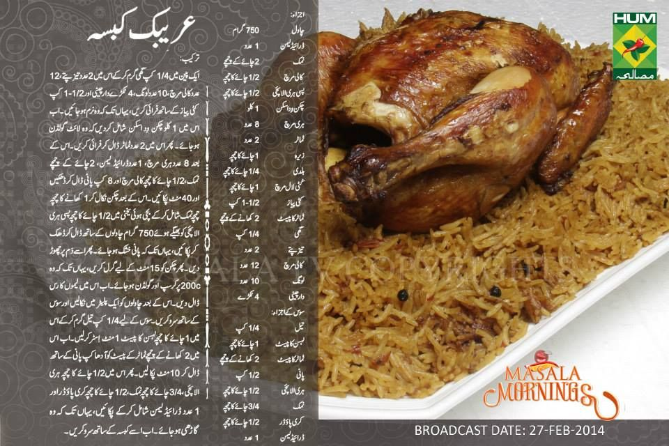Arabic kabsa recipe in urdu by shireen apa masala tv rice arabic kabsa recipe in urdu by shireen apa masala tv forumfinder Choice Image