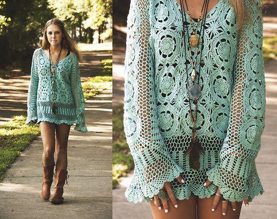 Bata linda de crochet