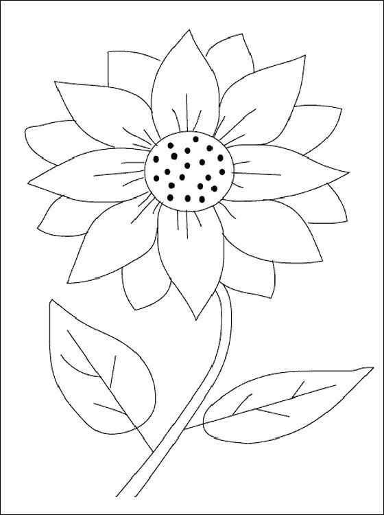 Sunflower Coloring Page Coloring Pages Patrones De Bordado Disenos De Arte Bordados A Mano Arte Bordado A Mano