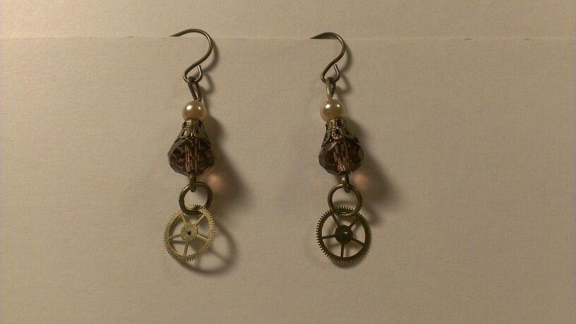 Handmade earrings steampunk style