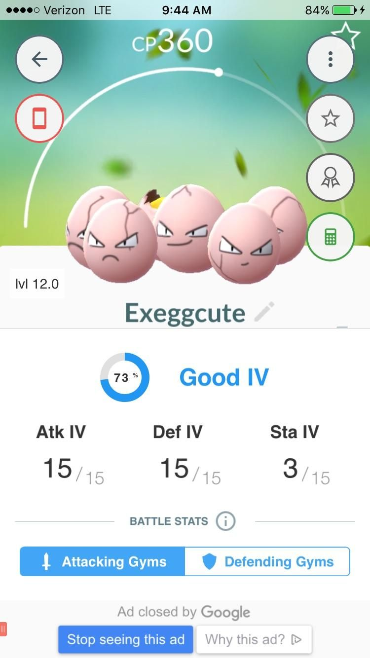 Is it worth keeping this exeggcute two perfect ivs one garbage one